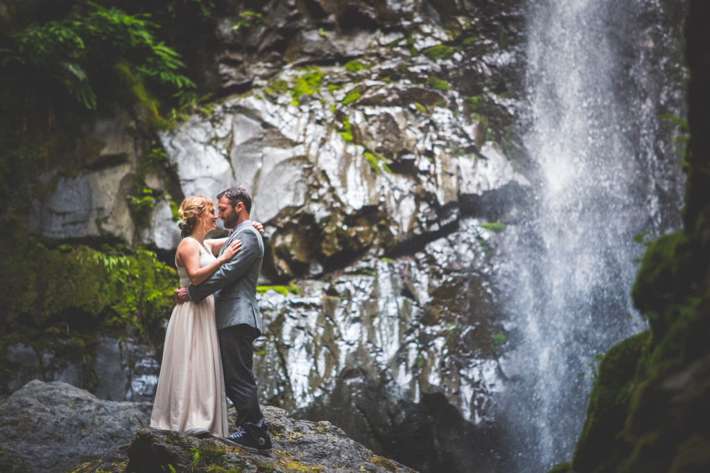Lupin Falls_in Strathcona Park_a couple elopes at their wedding ceremony_image by Chelsea Dawn